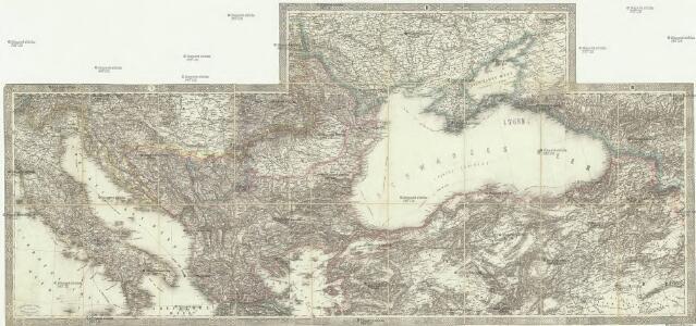 Karte der europäischen Türkey nebst Theilen von Klein Asien, Russland und das Schwarze Meer