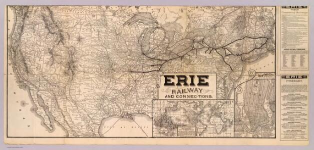 Erie Railway and connections.