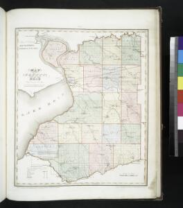 Map of the county of Erie / by David H. Burr; engd. by Rawdon, Clark & Co., Albany, & Rawdon, Wright & Co., New York.; An atlas of the state of New York: containing a map of the state and of the several counties / by David H. Burr.