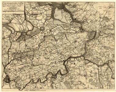 Carte tres-particuliere du Pays de Waes, ou sont marqués les Lignes depuis Anvers jusques a Gand