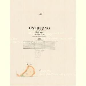 Ostruzno - c5572-1-003 - Kaiserpflichtexemplar der Landkarten des stabilen Katasters