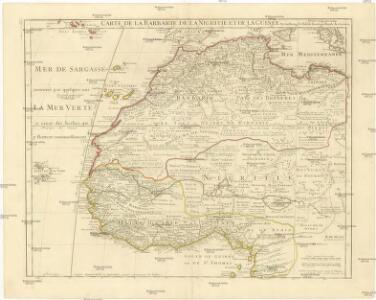 Carte de la Barbarie de la Nigritie et da le Guinée