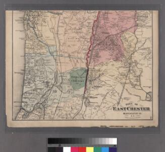 Plates 21 & 22: Town and City of Yonkers, Westchester Co. N.Y. - Town of East Chester, Westchester Co. N.Y.