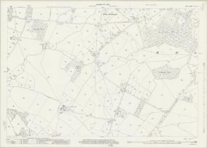 Kent LXV.12 (includes: Brabourne) - 25 Inch Map