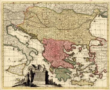 Regni Hungariae Graeciae Moreae Totuis Danubii, Adiacentiumque Regnorum, Nec Non Totius Graeciae et Archipelagi Delineatio nova expressa