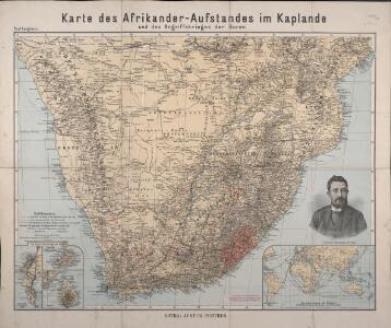 Karte des Afrikander-Aufstandes im Kaplande und des Angriffskrieges der Buren