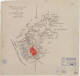 Mapa planimètric de Sant Feliu de Llobregat