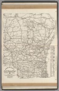 AutoTrails Map, Wisconsin, Northern Illinois, Northern Michigan.