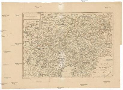 Charte von Oestreich Steyermark Illyrien und Tyrol