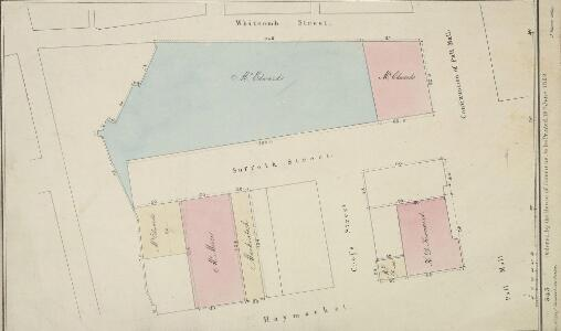 Plan of Suffolk Street, Haymarket, showing the Improvement of the Property belonging to the Crown