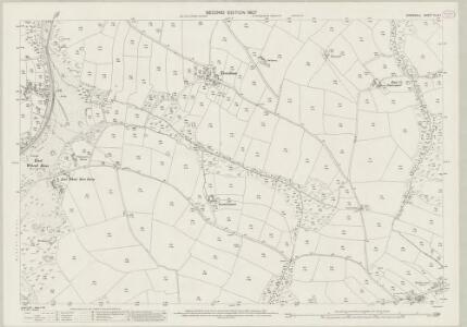 Cornwall XLIX.1 (includes: Newlyn; St Enoder) - 25 Inch Map