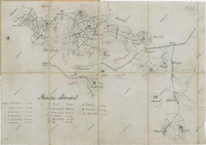 Porostní mapa lesního hospodářství obvodu Modlín-Nevděk
