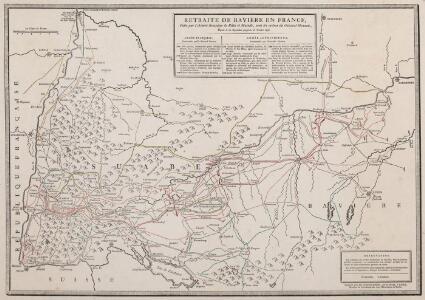 Retraite de Bavière en France, Faite par l'Armée française de Rhin et Moselle, sous les ordres du Général Moreau, Depuis le 10 Septembre jusqu'au 26 Octobre 1796
