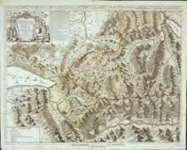 Carte chorographique de la partie occidentale de l'Oberland ou le comté de Gruyéres divisé en quatre bailliages ou gouvernements assavoir Gruyeres, Sanen, Ober Sibenthal et Nider Sibenthal, ou se trouve le gouvernement d'Aigle et le baillaige de Vevay
