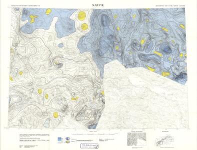 Geologiske kart 121-Q: Kart med magnetisk totalfelt. Narvik
