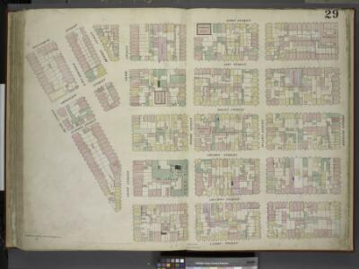 [Plate 29: Map bounded by Montgomery Street, Ridge    Street, Rivington Street, Cannon Street, Henry Street; Including Gouverneur      Street, Pitt Street, Scammel Street, Willet Street, Sheriff Street, Columbia     Street, East Broadway, Division Str