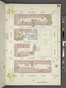 Manhattan, V. 2, Plate No. 36 [Map bounded by E. 18th St., 2nd Ave., E. 14th St., 3rd Ave.]