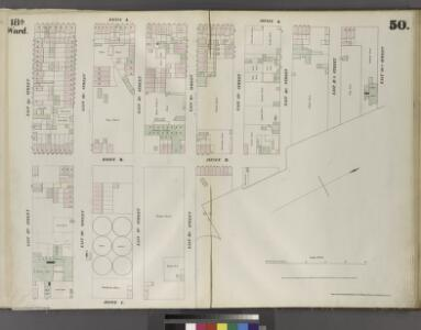[Plate 50: Map bounded by East 20th Street, East River, East 16th Street, Avenue C, East 13th Street, Avenue A.]