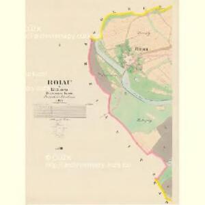 Roiau - c6416-1-001 - Kaiserpflichtexemplar der Landkarten des stabilen Katasters