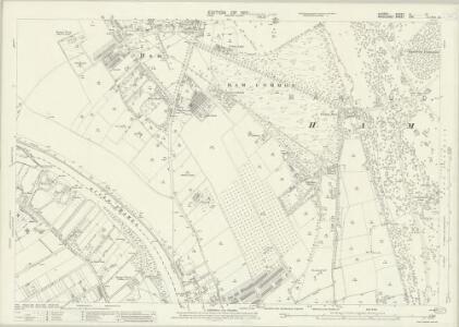 Surrey VI.12 (includes: Ham; Kingston Upon Thames; Twickenham St Mary The Virgin) - 25 Inch Map