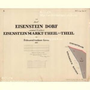 Eisenstein Dorf - c7755-2-001 - Kaiserpflichtexemplar der Landkarten des stabilen Katasters