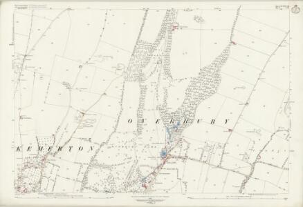 Worcestershire XLVIII.16 (includes: Bredon; Conderton; Kemerton; Overbury) - 25 Inch Map