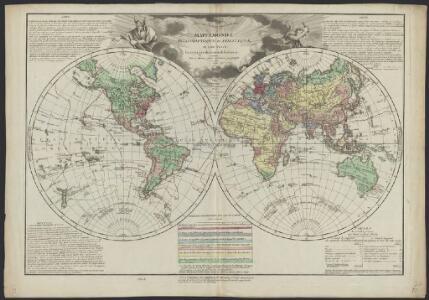 Mappemonde philosophique et politique, où sont tracés les voyages de Cook et de La Pérouse
