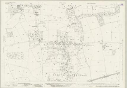 Somerset LXIV.9 (includes: Barton St David; Keinton Mandeville; Kingweston; Lydford) - 25 Inch Map