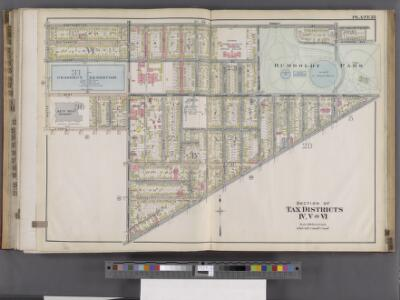 Buffalo, V. 1, Double Page Plate No.25 [Map bounded by N. Hampton St., Genesee St., Jefferson St., E. North St., Masten St.] / engraved by Albert Volk.