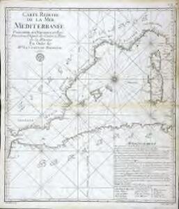 Carte reduite de la Mer Mediterranée, 1