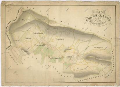 Hospodářské mapa revíru Novosedlské Hutě