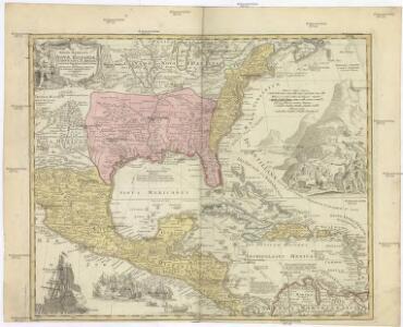 REGNI MEXICANI seu NOVAE HISPANIAE, LUDOVICIANAE, N. ANGLIAE, CAROLINAE, VIRGINIAE et PENSYLVANIAE nec non INSVLARVM ARCHIPELAGI MEXICANI IN AMERICA SEPTENTRIONALI accurata Tabula