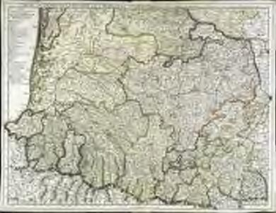 Carte du Bearn de la Bigorre de l'Armagnac et des pays voisins