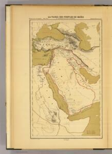 La table des peuples de Moise et geographie de la Genese.