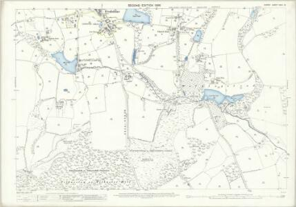 Surrey XXVII.15 (includes: Bletchingley; Godstone) - 25 Inch Map