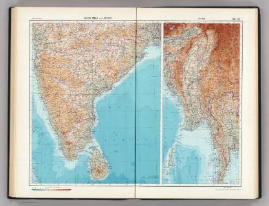 140-141.  South India, Ceylon, Burma.  The World Atlas.