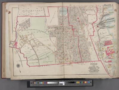 Bergen County, V. 1, Double Page Plate No. 1 [Map bounded by Edge Water Rd., Hudson River, Hudson County Blvd.] / by George W. and Walter S. Bromley.