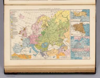 Volkerkarte von Europa.