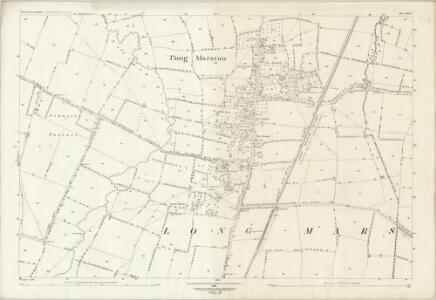 Gloucestershire III.8 (includes: Dorsington; Long Marston; Pebworth) - 25 Inch Map