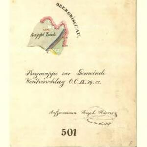 Wenkerschlag - c1370-2-009 - Kaiserpflichtexemplar der Landkarten des stabilen Katasters