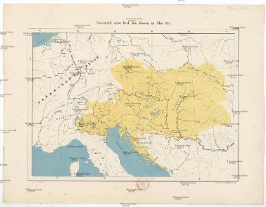 Oesterreich unter Karl dem Grossen im Jahre 814