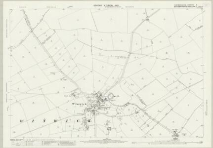 Huntingdonshire XII.8 (includes: Great Gidding; Luddington; Winwick) - 25 Inch Map
