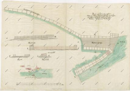 Plán splavu a zpevnění břehu u mláckého mlýna na Nové řece 1