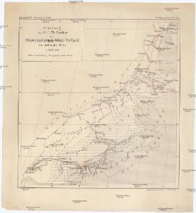 Reiseweg im Marokkanischen Atlas-Vorland im Frühjahr 1899