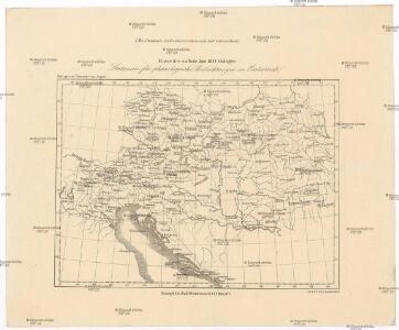 Karte der zu Ende Juni 1857 thätigen Stationen für phänologische Beobachtungen in Oesterreich