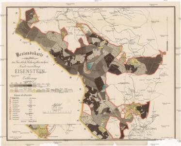 Bestandskarte von den Waldungen der fürstlich Hohenzollern'schen Forstverwaltung Eisenstein