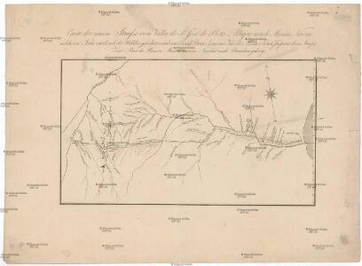 Carte der neuen Strasse von Villa de St. José do Porto-Alegre nach Minas Novas welche im Jahr 1816 durch die Wälder gebahnt ward vom Coronel Bento Lourenco Vaz de Abreu e Lima, Inspector dieser Strasse