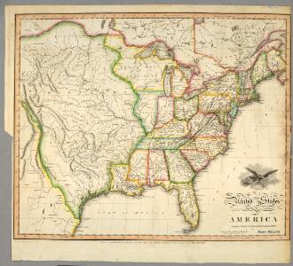 United States of America / compiled from the latest & best authorities by John Melish; engraved by Saml. Harrison.