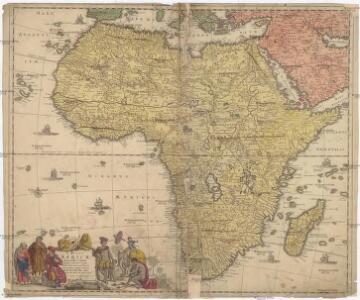 Totius Africae accuratissima tabula, denuo correcté revisa, multis locis aucta, in partes tam maiores quam minores divisa
