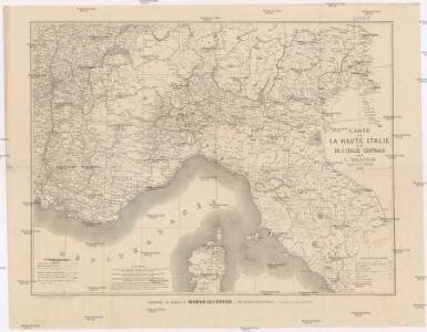 Carte de la Haute Italie